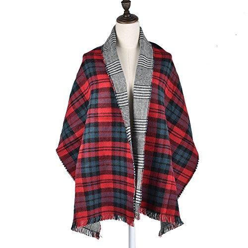 moda-invernale-da-donna-plaid-spessore-quadrato-sciarpa-scialle-donna-wraps-nero