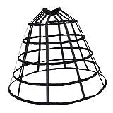 Baoblaze Damen Schwarz Weiß Petticoat Reifrock Unterröcke für Brautkleid Hochzeitskleid Vintage Crinoline Underskirt Abendlieid Ballkleider - Schwarz Groß, wie beschrieben