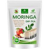 Moringa Tee 100% natur (wahlweise Kräuter-Mix, Apfel-Zimt, Granatapfel, Ingwer, Minze). Qualitätsprod. von MoriVeda (20 Beutel Moringa Apfel-Zimt)