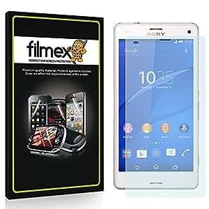 3 x Filmex Pellicola Protettiva Sony Xperia Z3 Compact (D5833, D5803) - Trasparente, Prima Qualità Giapponese in PET, Kit di installazione, Garanzia a vita