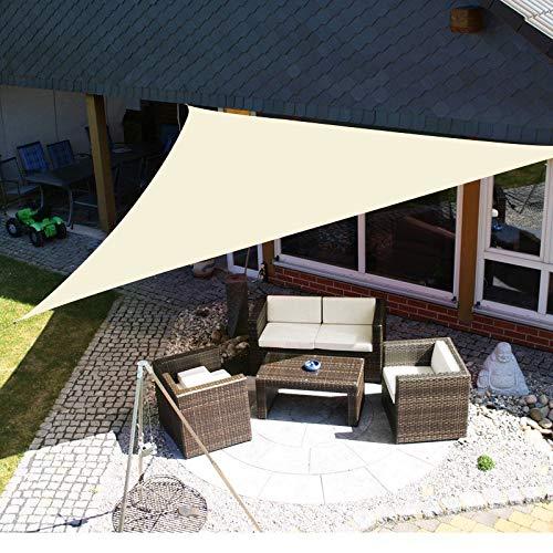 Yeahmart - Tenda Parasole a Vela Impermeabile, per Esterni, Giardino, Patio, Feste, 3 x 3 x 3 x 3 m / 3,6 x 3,6 x 3,6 m / 3,6 x 3,6 m / 3,6 x 3,6 m, Blocco UV 98% con Corda