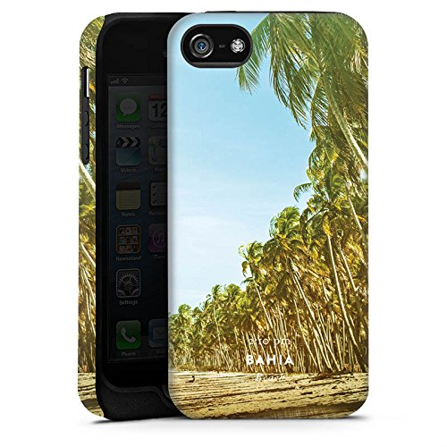 Apple iPhone X Silikon Hülle Case Schutzhülle Palmen Urlaub Strand Tough Case matt