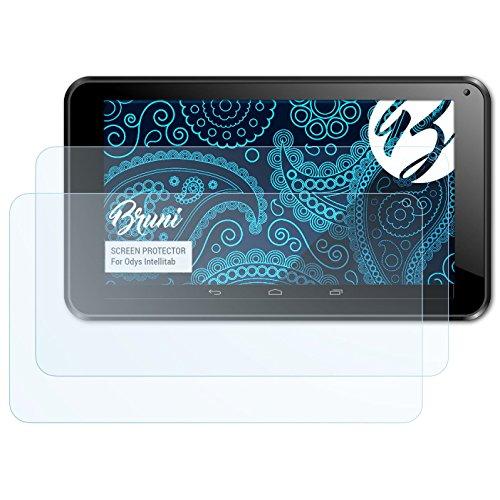 Bruni Schutzfolie kompatibel mit Odys Intellitab Folie, glasklare Bildschirmschutzfolie (2X)