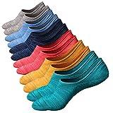 Calcetines de hombre antideslizantes de algodón de corte bajo (Tamaño: 38 - 44, Color 3 (6 pares))