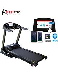 Fitifito Cinta de correr para fitness 7PS, con pantalla LCD,5 pre-programas ,ventilación y función MP3 ,sistema de amortiguación modelo 8500