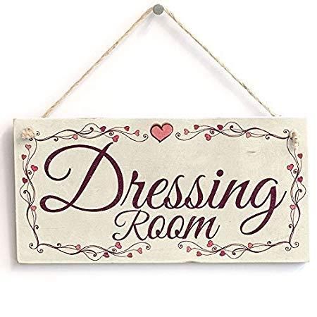 Rummy Lustiges Schild mit Aufschrift Dressing Room, 15 x 30 cm 825605 - Schild-dressing