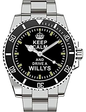 Keep calm and drive a Willys - Uhr 1655