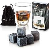 Babz 9 pce Whisky Stones Set with delicate box+velvet bag - Ideal for Wine, Whiskey, Beer