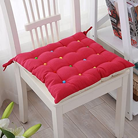 Cute double-sided canvas dining chair cushion/ thick seat cushion/ pure color with Chair pad-F 40x40cm(16x16inch)
