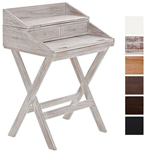 CLP Scrittoio POE in mogano, scrivania in stile rustico, ripiano ...