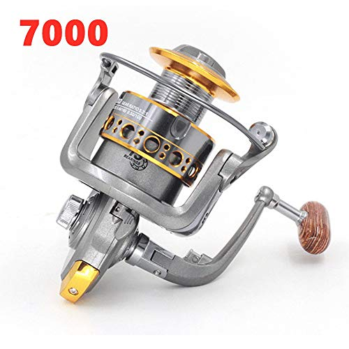 Lure Fishing Line Reel Fly Fishing Line Round Sea Fishing Fresh Water Line Capacity 109 Yards Gear Ratio 5.2:1 Net Weight 0.83 Pounds,7000 -
