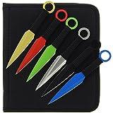 12 teiliges G8DS® buntes Wurfmesser-Set multicolor gelb rot grün blau silber schwarz