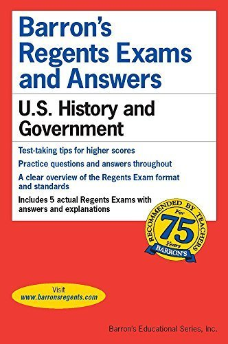 Regents Exams and Answers: U.S. History and Government (Barron's Regents Exams and Answers) by Resnick (2015-11-01)