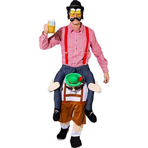 Kostüm Tiroler (Huckepack Kostüm Bayer Trag mich Tiroler 1,80-1,95m Piggyback Österreicher Reitkostüm)