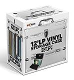 Retro Musique Aluminium 12 Vinyl Record LP Storage Case with unique folding front flap for better access to your LPs