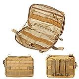 Molle-Universaltasche mit Reißverschluss, Universaltragesystem der US-Armee, für Kamera, Erste-Hilfe-Ausrüstung, Nylon, hautfarben