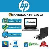 NOTEBOOK HP 640 G1 INTEL CORE I5 4300 2.60GHZ/8GB/256GB SSD/WEBCAM/WIN 10 PRO (Ricondizionato)
