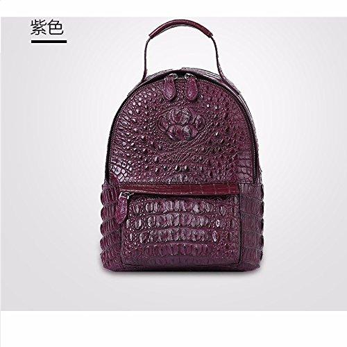 lpkone-Nouveau motif crocodile sac épaule simple de la femme la mode européenne mini sac à main sacs femmes Deep Purple