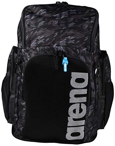 ARENA Team 45 Backpack Allover Schwimmrucksack, Unisex Erwachsene Einheitsgröße schwarz (Camo Black)