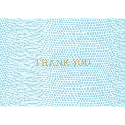 Caspari Inc. 81633.44 Caspari Lizard Thank You Notes - Tarjetas de agradecimiento con texto Thank You (papel, 8 unidades), color