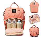 #5: Robustrion Stylish Waterproof Multifunctional Diaper Bags for Mothers for Travel Nappy Tote Backpack Large Size (20 x 18 x 40 cms) - Coral