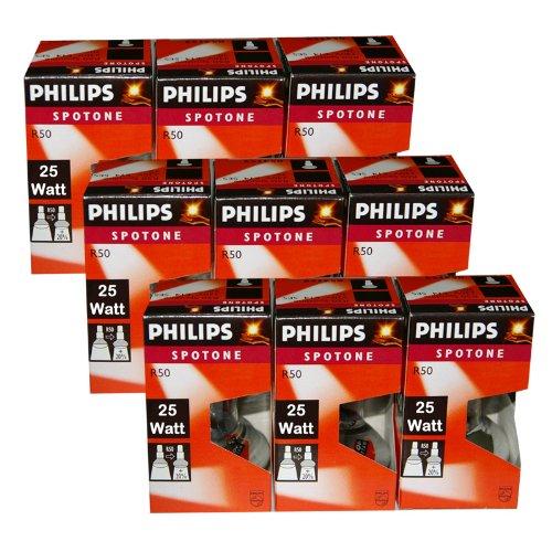 9 x Philips Reflektor Glühbirne Spotone R50 25W 25 Watt Glühlampe E14 Reflektorlampe