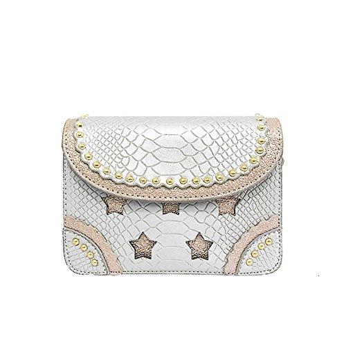 Meoaeo Schultertasche Neue Sommermode Flut Der Westlichen Stil Alle-Match Schulter Tasche Weiß white
