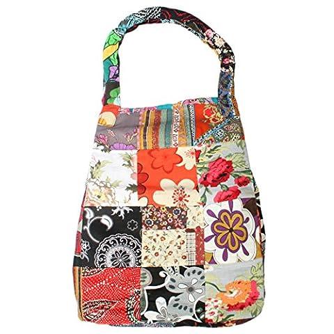 kilofly Large Bohemian Cloth Shoulder Bag Handbag Tote, Musetta Patchwork