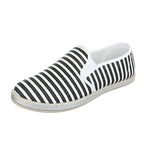 Ital-Design - Sneaker Donna Schwarz Weiß 6598-Y
