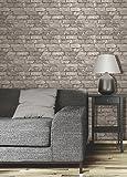 Brewster FD31286 Rustic Brick Wallpaper - Cream