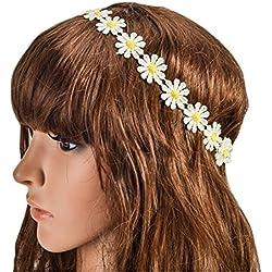 2unidades Mujer Chica Elegante margaritas flor cinta Festival novia boda playa guirnalda cinta pelo banda artículos en la cabeza