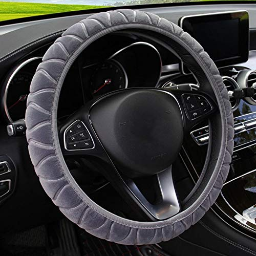 SWCAAE Car Steering Wheel Cover DIY Genuine Leather Cowhide Braid With Needles Thread Interior Accessory Car Styling,AA -