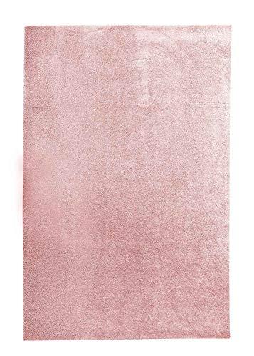 Hochflorteppich   Rosa   80 x 150 cm   Polypropylen -