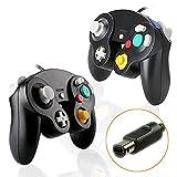 KOBWA Game-Controller, Gamepad-Controller, Joystick kompatibel mit Nintendo Wii Gamecube 2*Gaming Controller