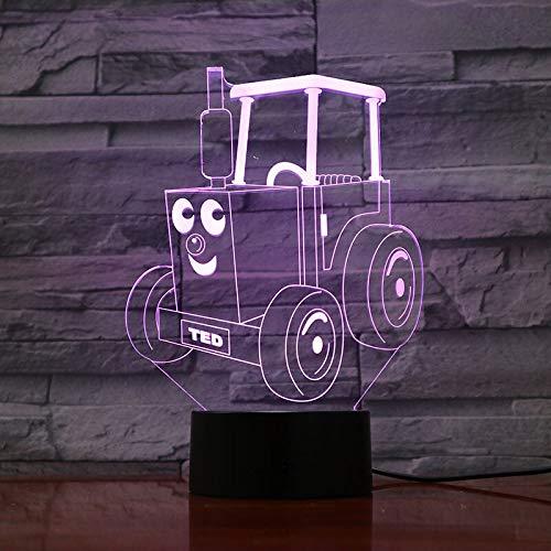 Zug Eisenbahn Motor Nachtlicht LED Lokomotive Cartoon 3D Illusion Kinder Kinder Tischlampe Schlafzimmer Thomas und seine Freunde Gadget A-998 (Thomas Der Zug-bild)