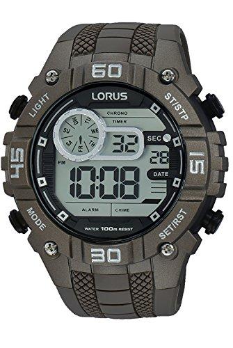 Lorus Sport Man Montre Homme Digital Quartz avec Bracelet Silicone R2359LX9