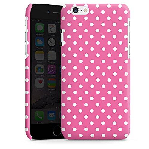 Apple iPhone 6 Housse Étui Silicone Coque Protection Points Rose vif Polka Cas Premium brillant