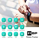 Fitness Tracker,AUPALLA 21BP Smart band Activity Tracker Work With Blood Pressure Measure and Heart Rate Monitor Pedometer Sleep Monitor Calories Track ONLY Support iPhone Android Smartphone