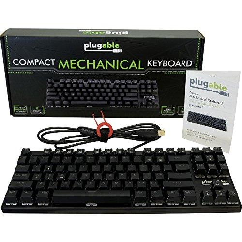 Mechanische Tastatur (USB) steckbar schwarz 87 Key