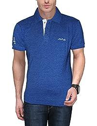 Scott International AWG Mens Premium Royal Blue Grindle Polo T-Shirt