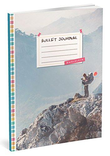 Bullet Journal: Punktraster Notizbuch (Ca. A5) + 100 Seiten + Vintage Softcover | TOP Motiv: Fokussiert | Dot Grid Journal, Kalligraphie Übungsheft, Punktpapier +++ Jetzt mit Register +++