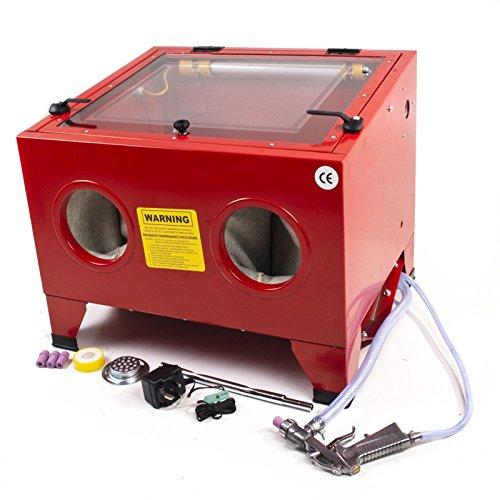 Garage-Workshop-Portable-Bead-Grit-Sand-Silica-Shot-Blasting-Polishing-Machine-Bench-Cabinet-incl-Gun