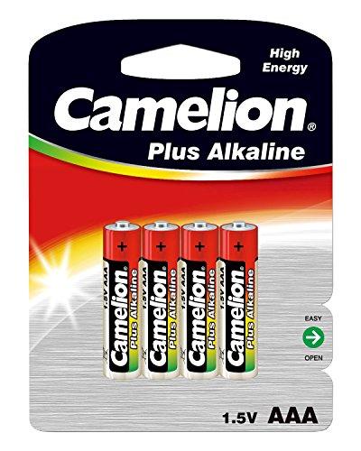 Camelion 11000403 Plus Alkaline Batterien AAA/Micro/LR03, 4er-Pack