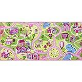 Kinderteppich Mädchen Straßenteppich Spielteppich Sweet Town in 3 Größen, Größe:140 x 200 cm