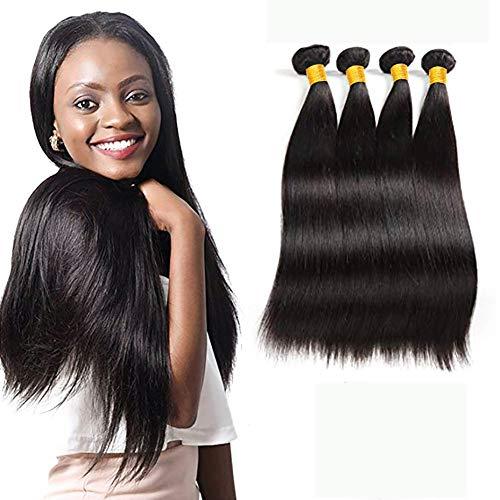 Ladiary capelli veri umani lisci 400g capelli brasiliani vergini kann essere tinti e restyling extension tessitura capelli veri naturale colorati human hair 55cm 60cm 65cm 70cm