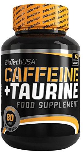 Biotech USA Caffeine & Taurine Nitrox y Energizante, Pack de 60 Cápsulas, 55.8 gr