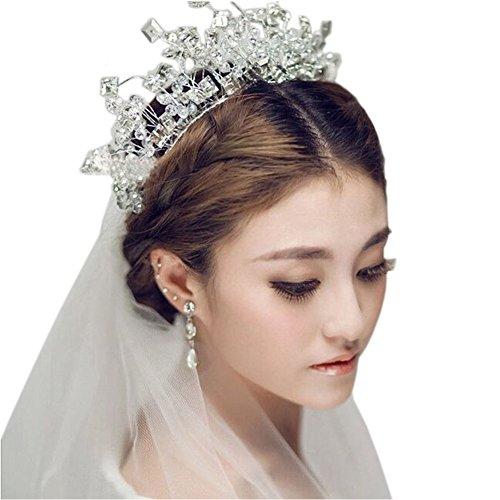 Mariage Fleur Strass s nuptiale de dentelle Bandeau Accessoires cheveux, K