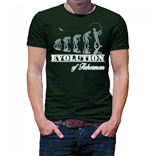 Herren T-Shirt Modell: Evolution of Fisherman 03 - khaki
