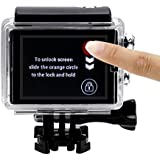 """SHOOT 2in1 Kit 2"""" Touchable Écran LCD +Touchable Boîtier logement étanche transparent waterproof housing case pour GoPro Hero 4/3+ Caméras"""