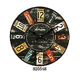 Bolange El reloj de pared redondo decorativo de la resina del estilo rural de los 12cm, el reloj de pared decorativo árabe de la sala de estar de la oficina del diseño digital silenciosamente (820548)